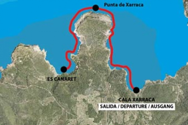 Route from the Port of Cala Xarraca to Es Canaret